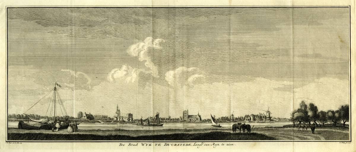 Kasteel Duurstede in Wijk bij Duurstede. Tekening Jan de Beijer, gravure Jan Casper Philips(Uit: De Tegenwoordige Staat..., Isaac Tirion, 1738/1804)